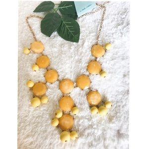 Yellow fashion necklace